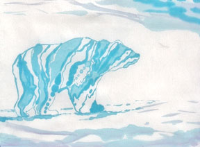 Gidman_Dye-Painted-Textile-Polar-Bear-Walk