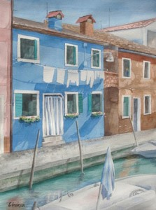 Gidman_Watercolour-Burano,-Venice