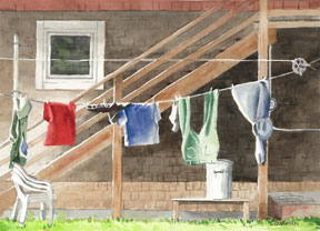 Gidman_Watercolour-Everyday-Clothesline