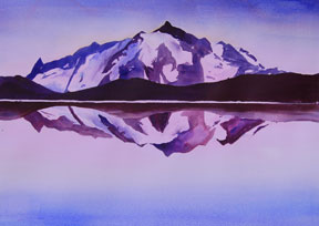 Mount-Shuksan,-Mixed-media,-Sandra-Irvine