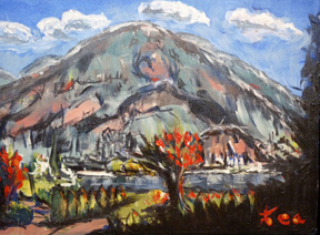 Preville Tea,  Elephant Mountain, 11x14 Oil - SOLD